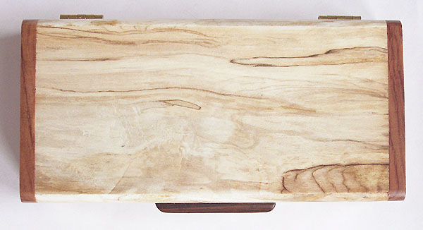Spalted maple box top - Handmade decorative small wood box