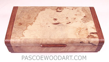 Handmade Spalted maple burl small wood box