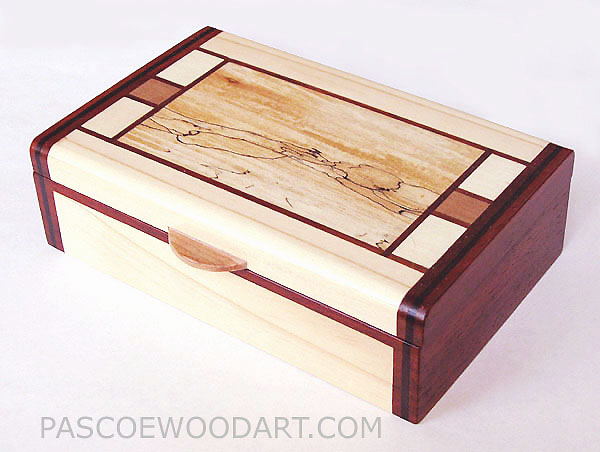 Handmade small wood box  sc 1 st  Pascoeu0027s Wood Art & Handmade small keepsake box - small wood box made of White Aspen ... Aboutintivar.Com