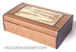 Small decorative wood keepsake box