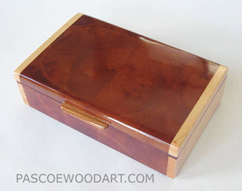 Small keepsake box - Handmade small wood box made of Camphor burl, maple