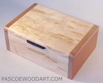 Decorative small keepsake box - Handmade small wood box made of Karelian birch burl, cherry