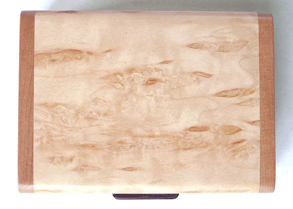 Karelian birch burl box top - Handmade small wood box made of Karelian birch burl, cherry