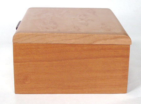 Small wood box side view