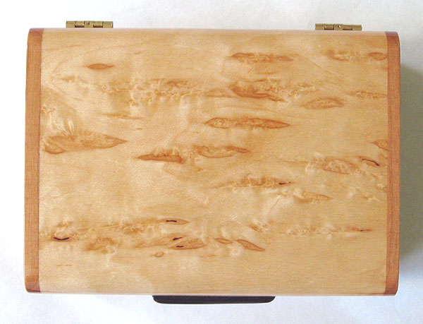 Karelian birch burl box top - Decorative small wood box