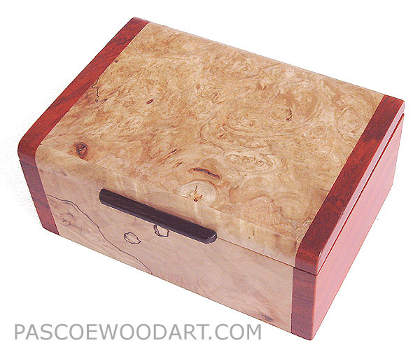 Decorative small wood box - Spalted maple burl wood handmade small box