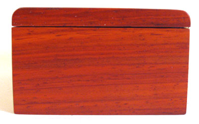 Padauk box end - Handmade decorative small wood box