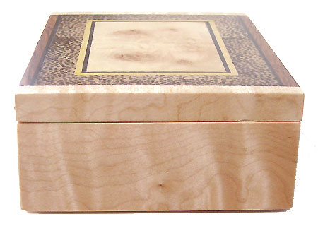 Decorative wood small keepsake box - maple box end