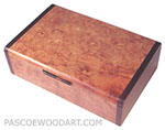 Decorative small keepsake box - Handmade wood box made of amboyna burl, Bois de rose
