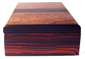 Cocobolo box end - Decorative small keepsake box