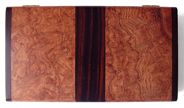 Amboyna burl decorative keepsake box top view