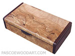 Handcrafted small wood box - Small keepsake box made of spalted maple burl, bois de rose