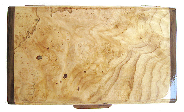 Spalted maple burl box top - Small wood keepsake box