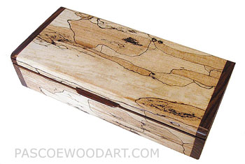 Handmade wood small box - Decorative wood small keepsake box made of spalted maple with cocobolo ends