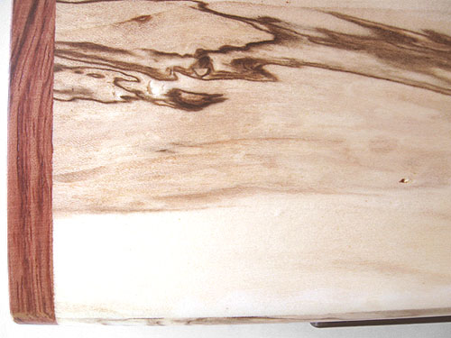 Decorative small box close up - Spalted maple with bubinga end