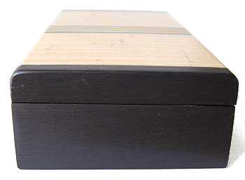 Ebony box end - Decorative small wood box