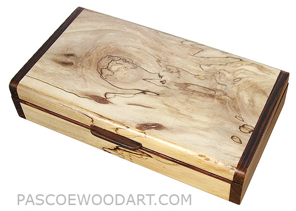 Handmade small wood box made of spalted maple with cocobolo ends  sc 1 st  Pascoeu0027s Wood Art & Handcrafted Small Wood Box - Decorative Wood Shalow Box - Spalted ... Aboutintivar.Com