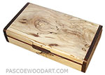 Handmade small wood box made of spalted maple with cocobolo ends