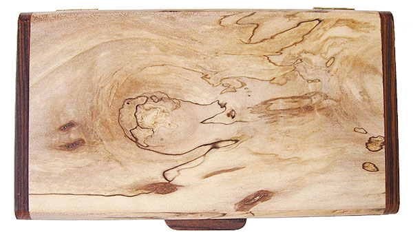 Spalted maple box top - handmade small wood box