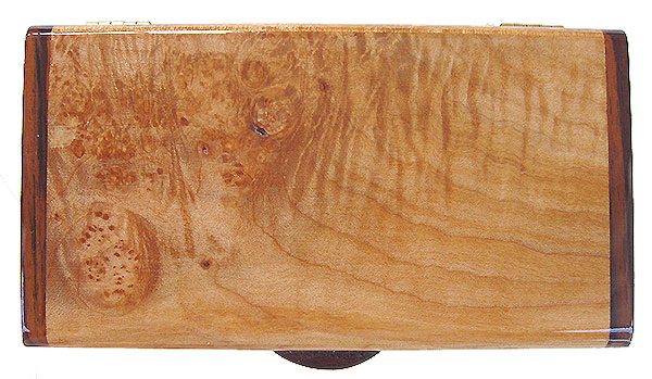 Burly-curly maple box top - Handmade small wood box