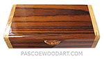 Handmade small wood box made of Indian rosewood with maple ends