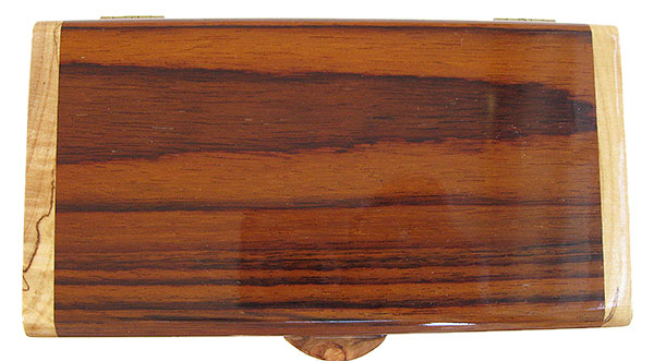 Indian rosewood box top - Handmade small wood box