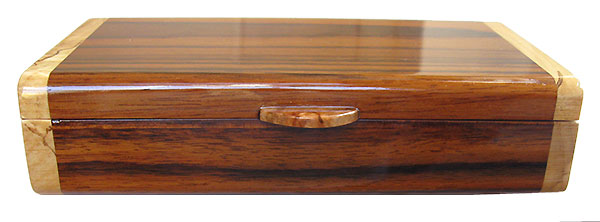 Handmade small wood box - Indian rosewood front view