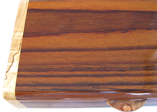 Indian rosewood box top close up - Handmade small wood box