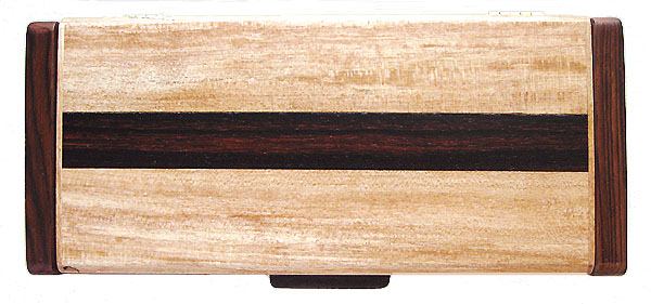 Decorative wood desktop box - box top made of spalted maple and cocobolo