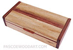 Handmade small wood box - Decorative wood box made of spalted maple, padauk