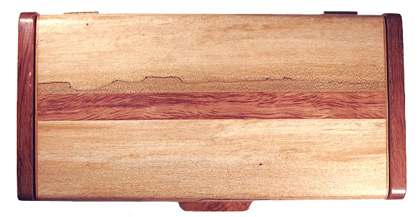 Spalted maple with bubinga accent box top - Handmade decorative small wood box