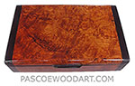 Handmade wood small keepsake box - Amboyna burl box