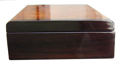 Bois de rose box end - handmade small wood box