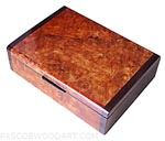 Handmade wood small box - Decorative wood small keepsake box made of amboyna burl with bois de rose ends