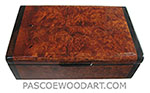 Handmade small wood box - Decorative wood small keepsake box made of amboyna burl with bois de rose ends