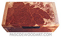 Handmade small wood box - Decorative small keepske box made of red mallee burl with maple burl ends