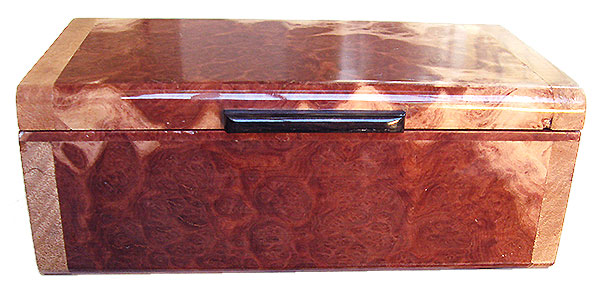 Red mallee box front - Handmade small wood keepsake box