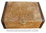 Handmade small wood box - Decorative small keepsake box made of masur birch burl with bocote ends