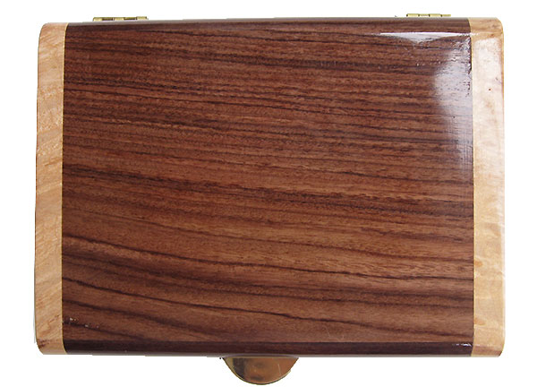 Asian ebony box top - Handmade decorative small wood box