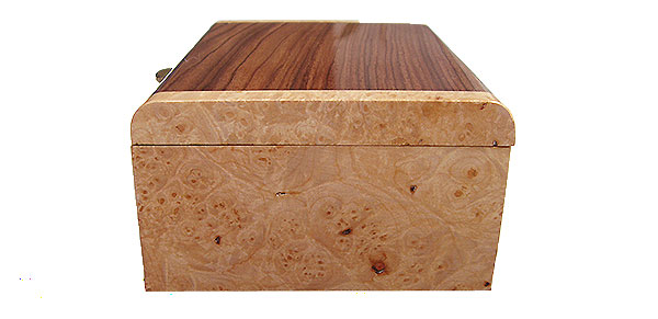 Maple burl box end  - Handmade decorative small wood box