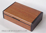 Handmade small wood box - Bubinga, Bois de Rose