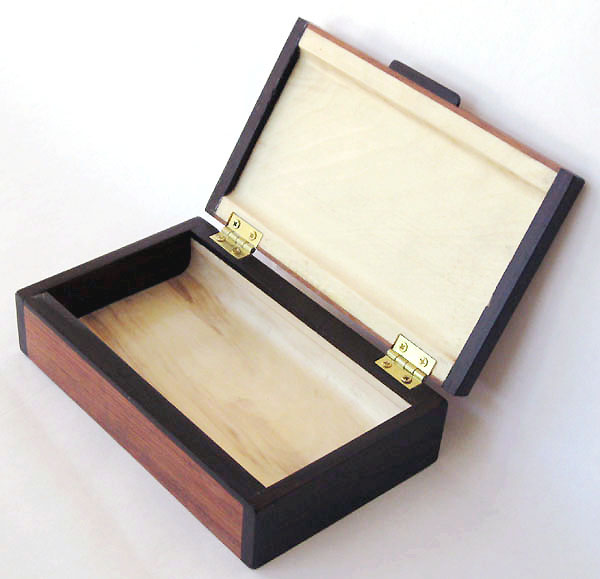 Small wood box - open view