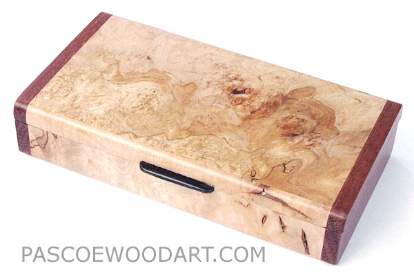 Handmade Decorative Small Wood Box Made Of Maple Burl With