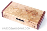 Handmade decorative small maple burl wood box