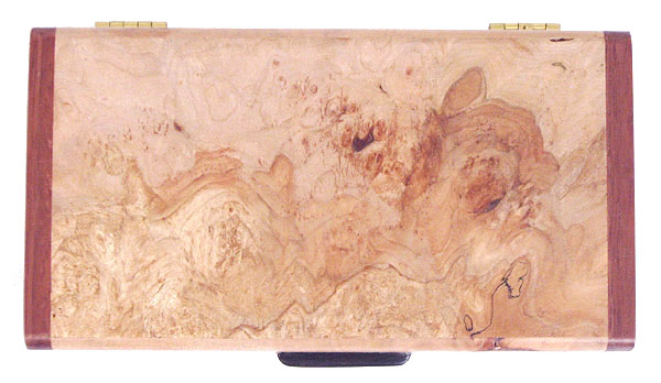 Maple burl box top - Handmade decorative small wood box