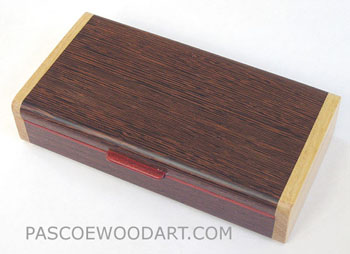 Handmade decorative small wenge wood box