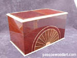 CD or DVD storage box : Sun Rise - Sapele box