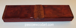 Camphor burl and sapele super slim pill box S-11