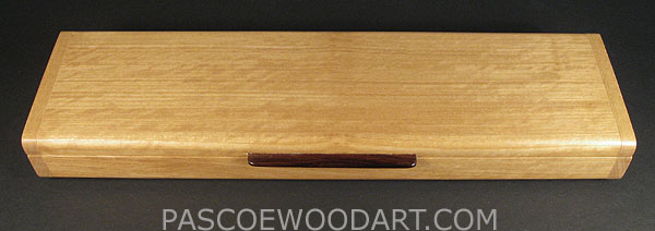 Handmade satinwood super slim pill box