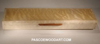 Quilted maple super slim pill box S-5